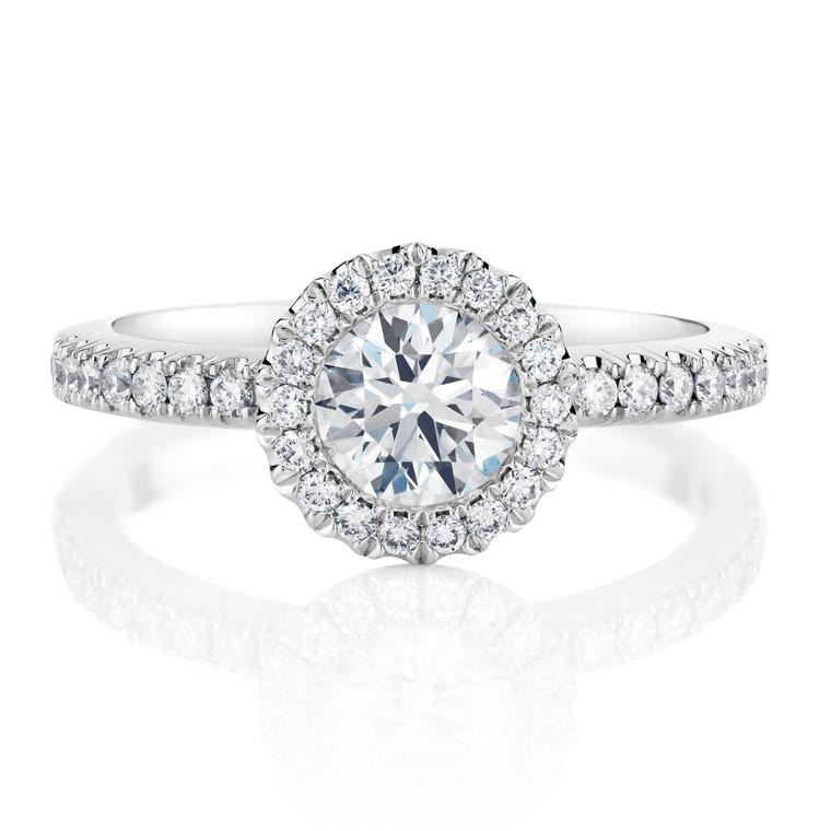 De Beers Aura 0.5ct diamond engagement ring in platinum