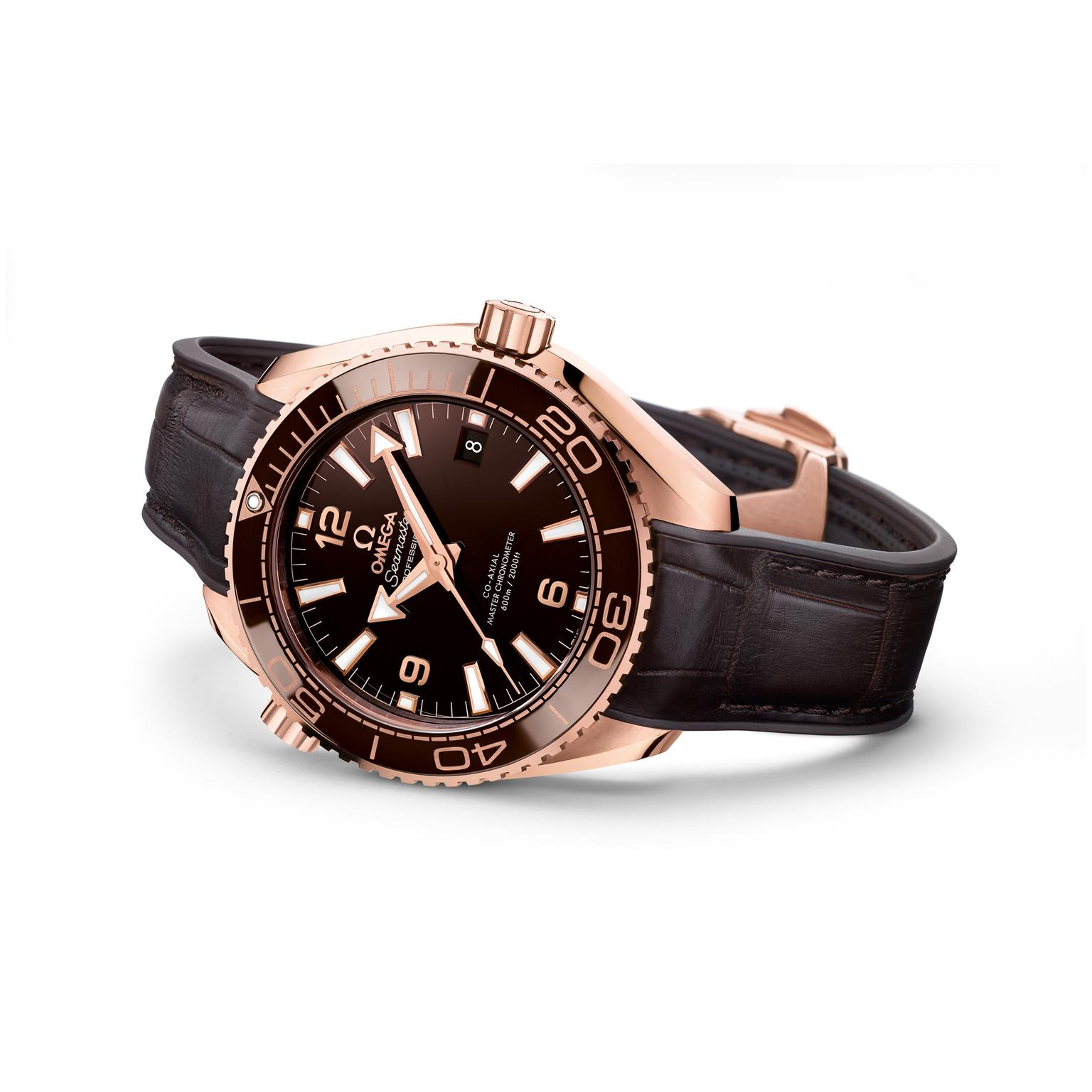 Omega Seamaster Planet Ocean watch in Sedna gold