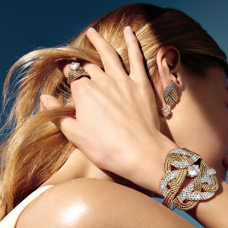 Chanel Flying Cloud collection Golden Braid jewels