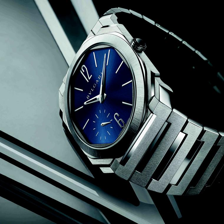Octo Finissimo Automatic Satin-Polished Steel side view