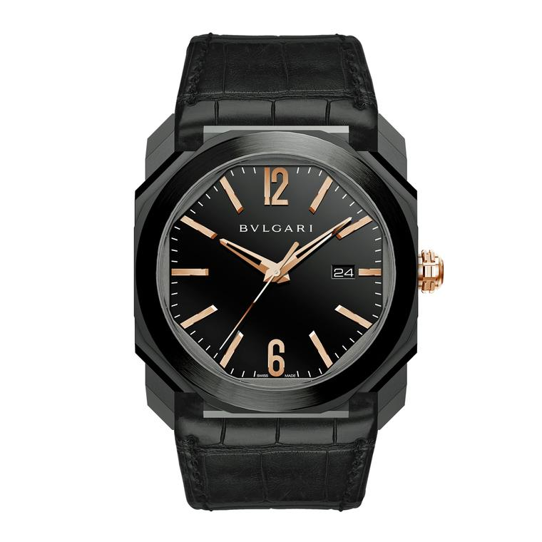 Bulgari Octo Ultranero watch, exclusive to Harrods