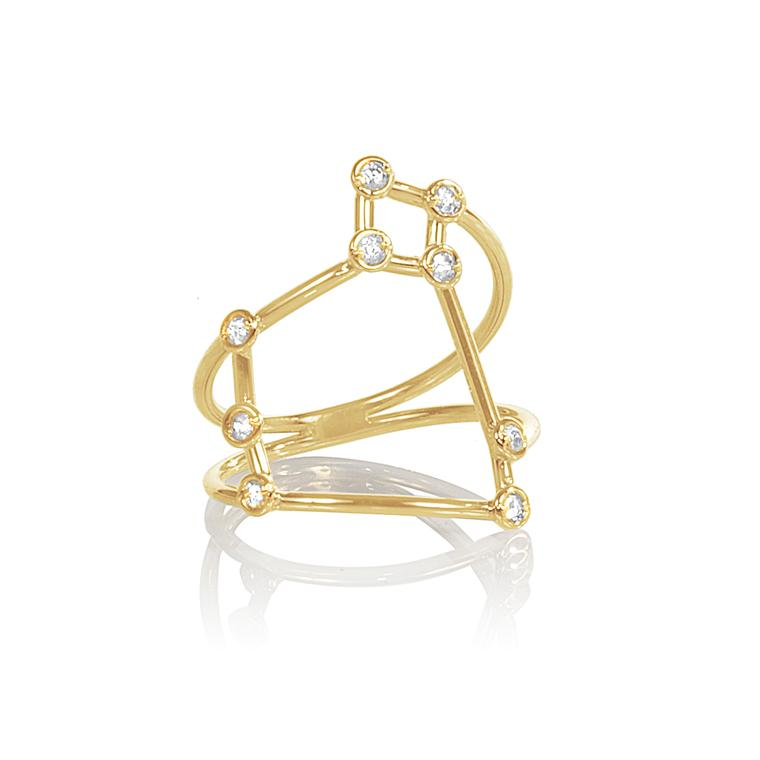Jessie V E diamond constellation ring