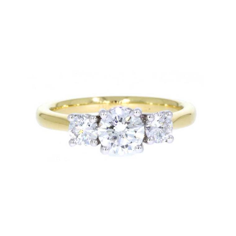 Hamilton & Inches three stone engagement ring