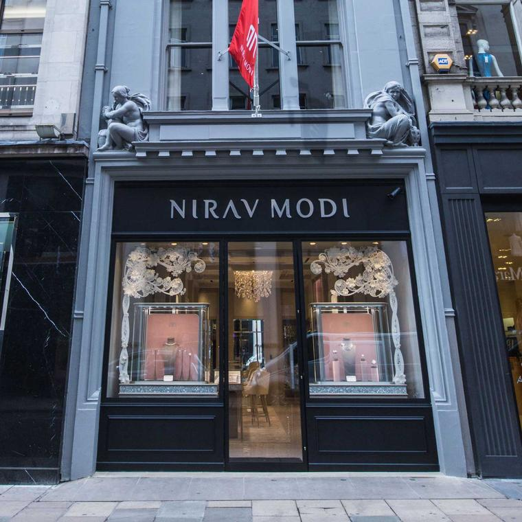 Exterior of the Nirav Modi boutique on Old Bond Street, London