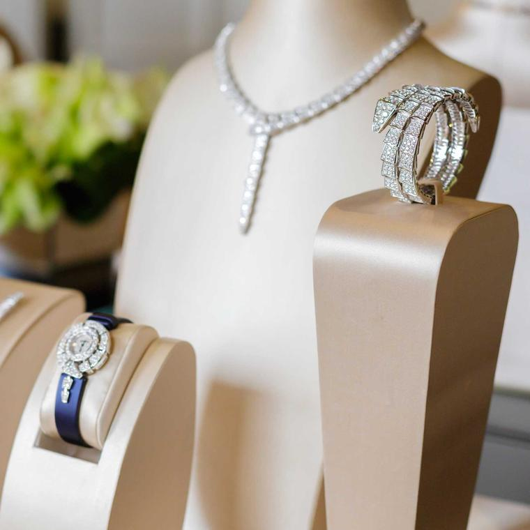 Bulgari jewellery on display at Pebble Beach