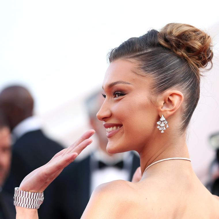 Bella Hadid in Bulgari jewels Cannes 2019