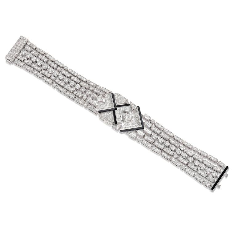 Lot 556: Diamond and Onyx bracelet by Chanel - Phillips Hong Kong Auction 5 June 2021