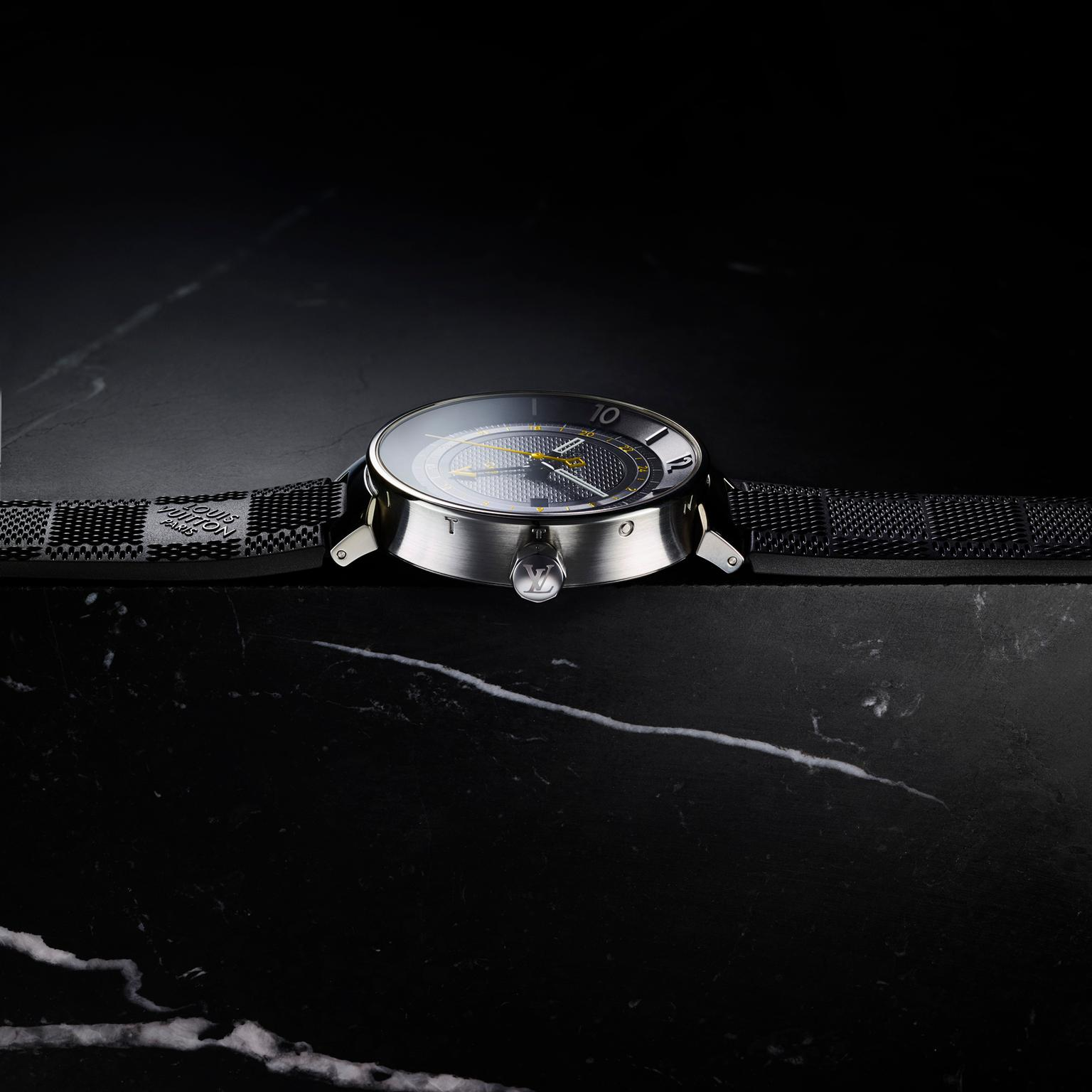 Louis Vuitton Tambour Moon GMT Black watch