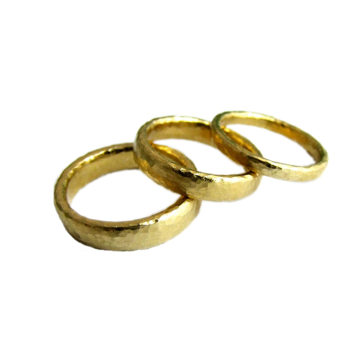 Alexis Dove yellow gold wedding bands