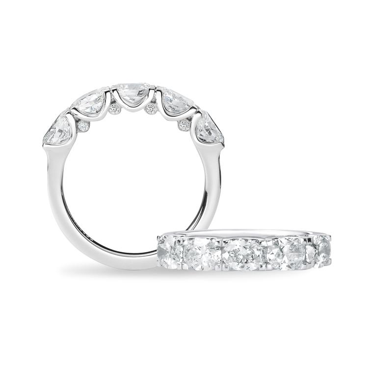 David M Robinson Oval Five diamond engagement ring