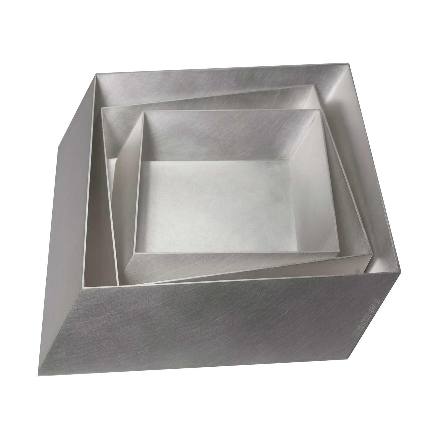 Mary-Ann Simmons Nested Square silver dishes