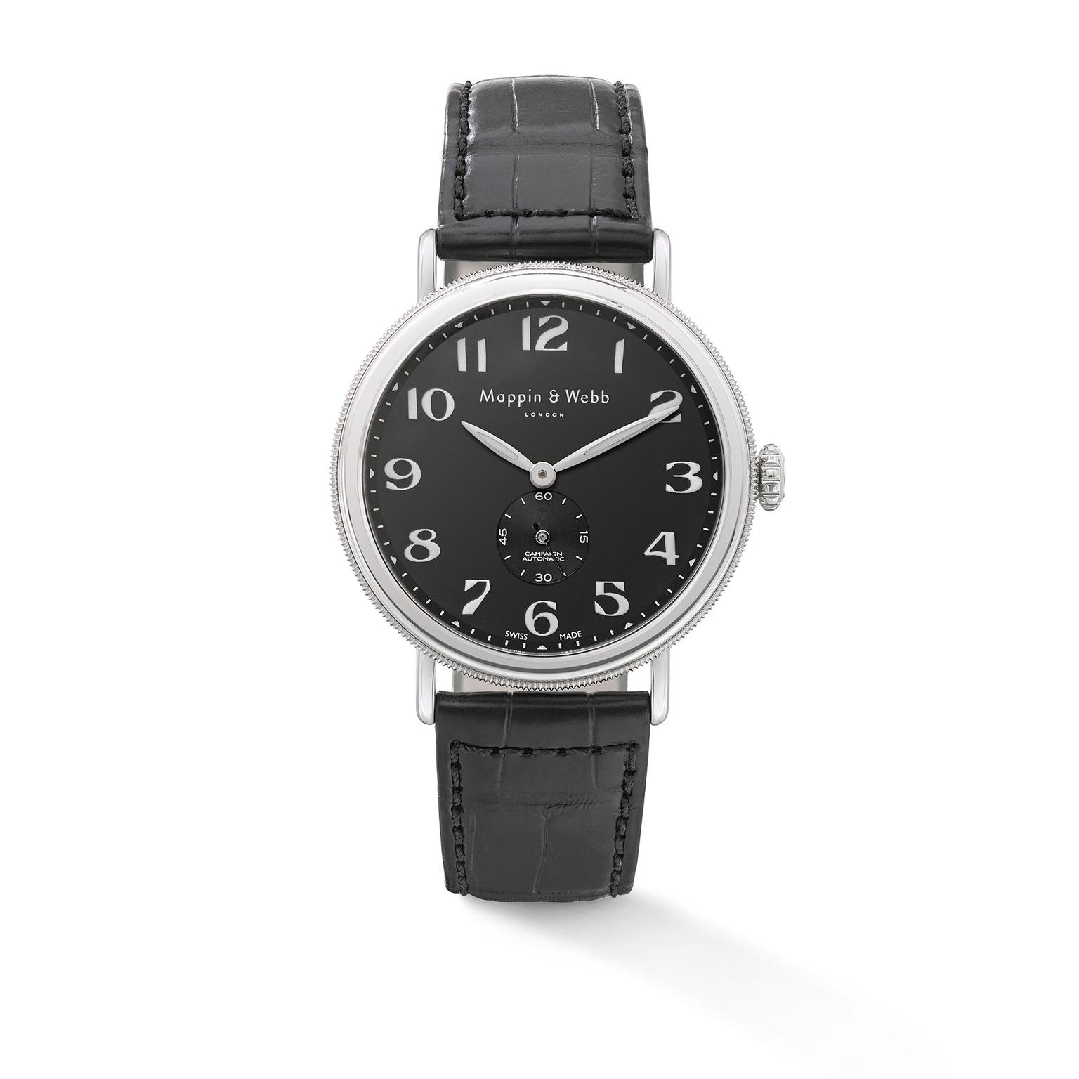 Mappin & Webb Campaign Automatic - black dial