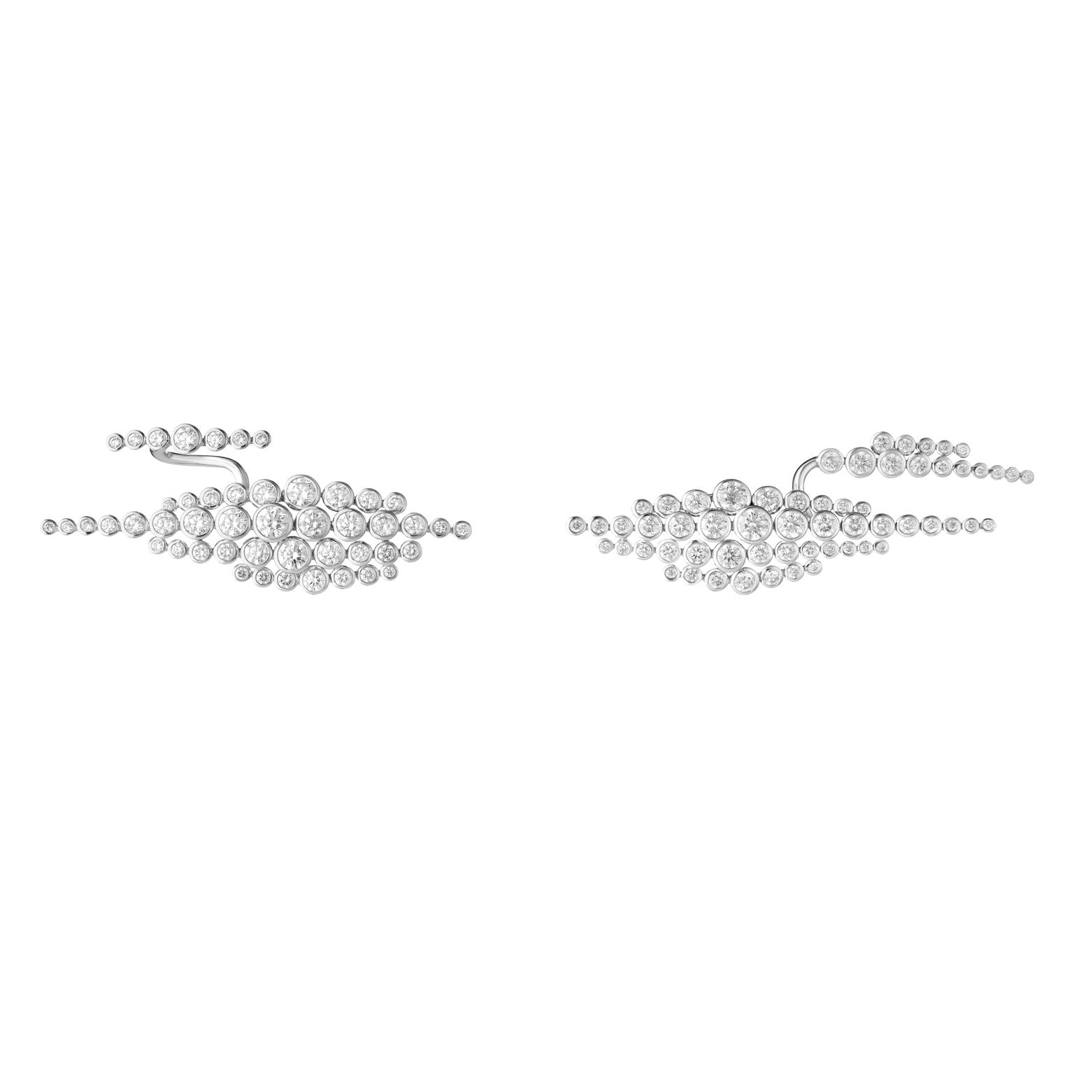 Boucheron Clip Earrings En Passant - diamonds, white gold copy