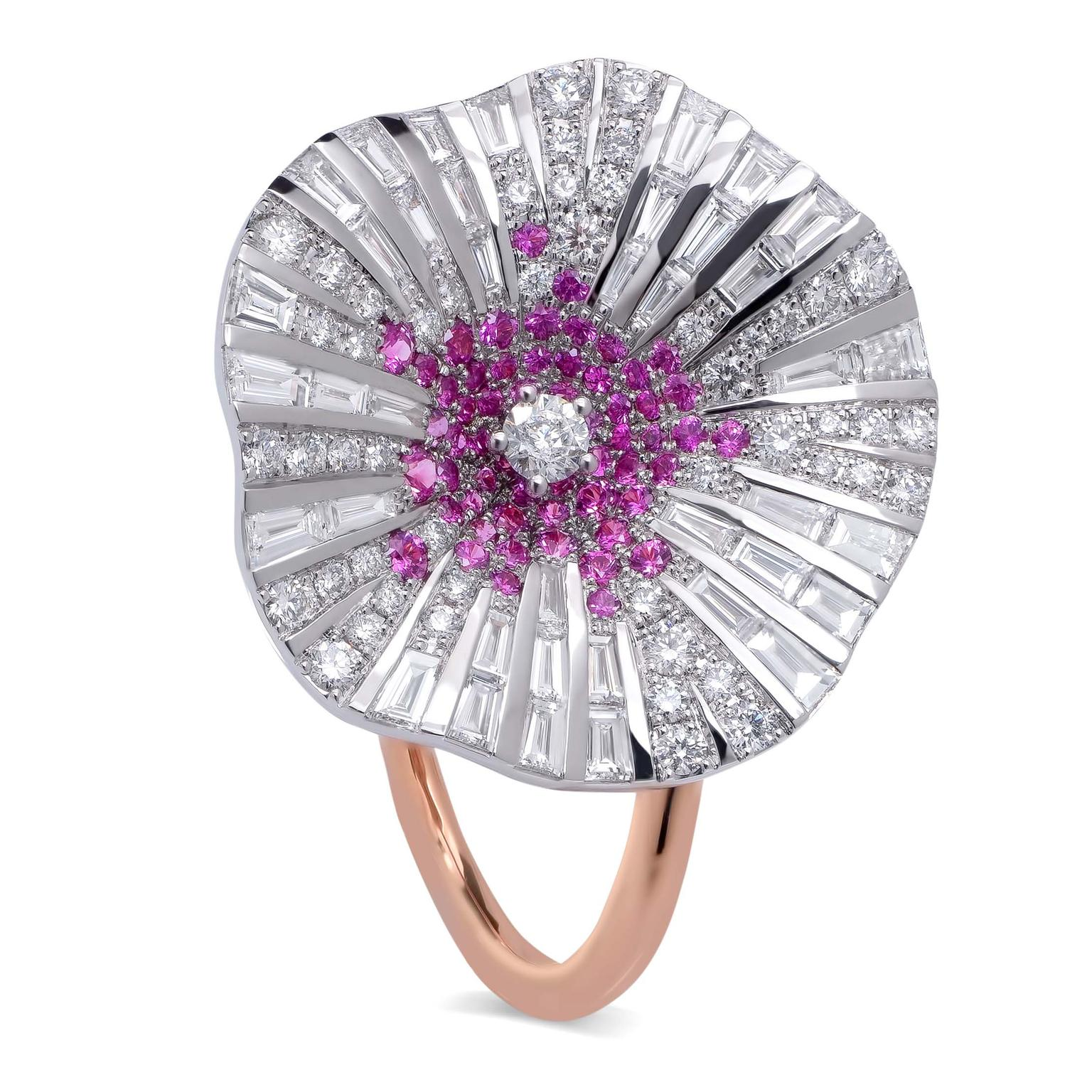 Stenzhorn Belle pink sapphire and white diamond ring
