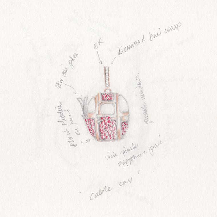 Annoushka My Life in 7 Charms, Cable Car sketch