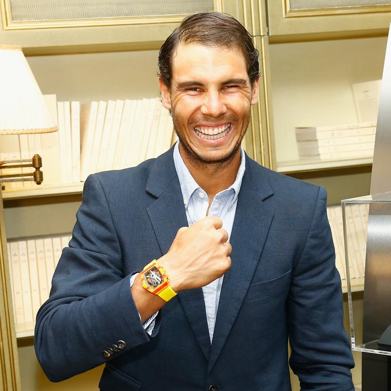 Lucky charm: Rafael Nadal's £700,000 Richard Mille watch