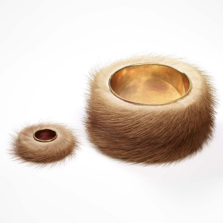 Fur bracelet and ring from Meret Oppenheim