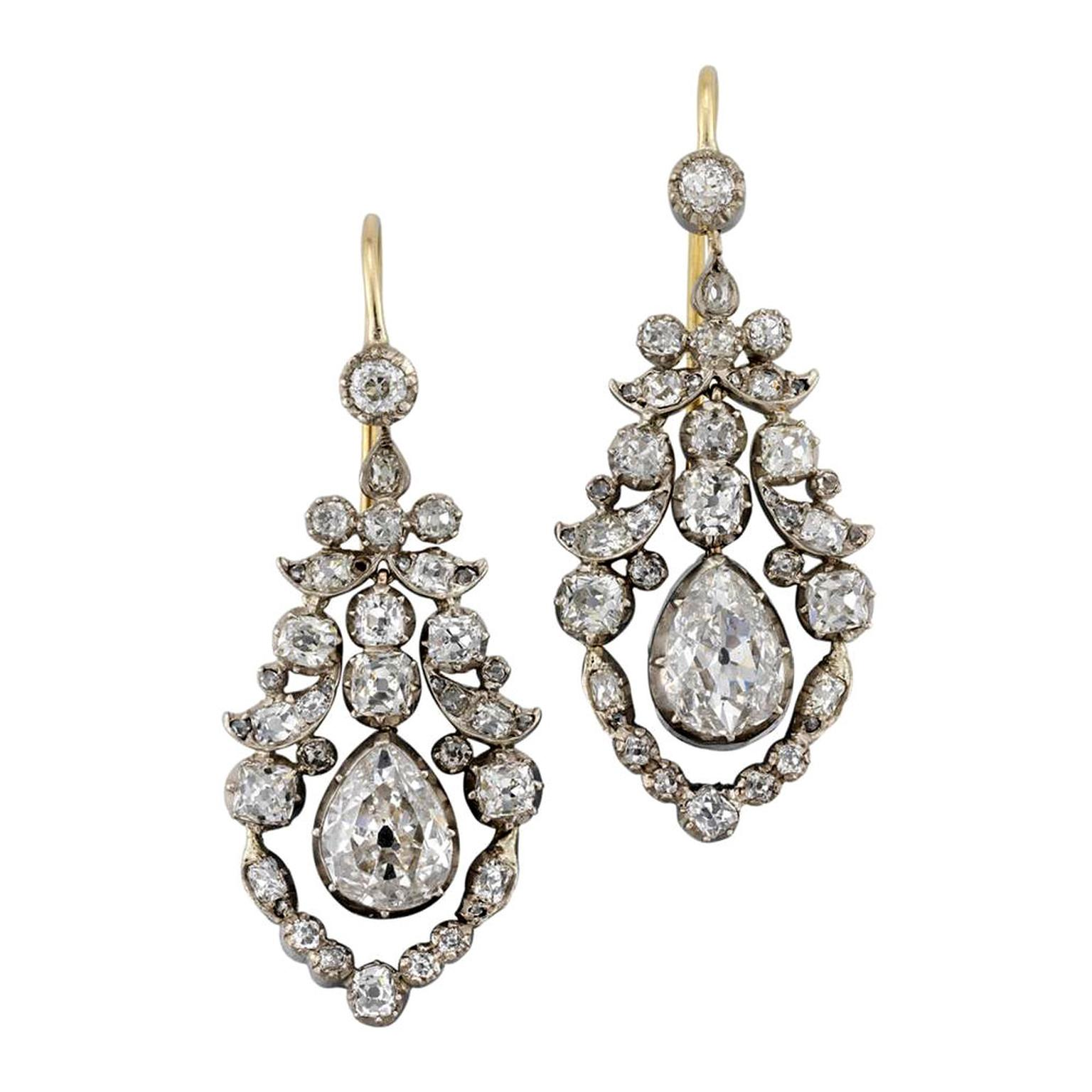 Bentley & Skinner late Georgian diamond earrings