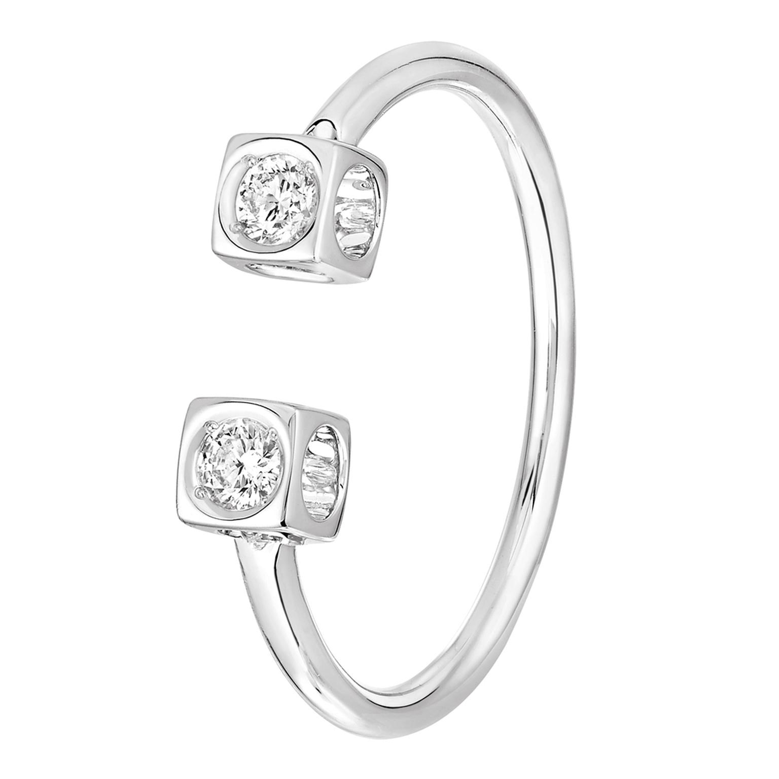 Dinh Van Le Cube Diamant ring white gold