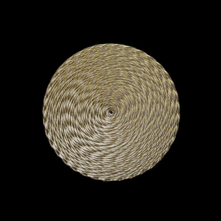 Andrew Lamb Fibonacci silver and gold brooch