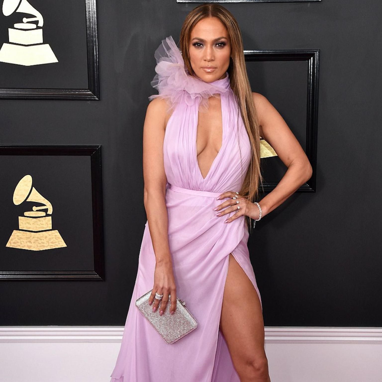 Jennifer Lopez wearing Butani at the 2017 Grammy Awards