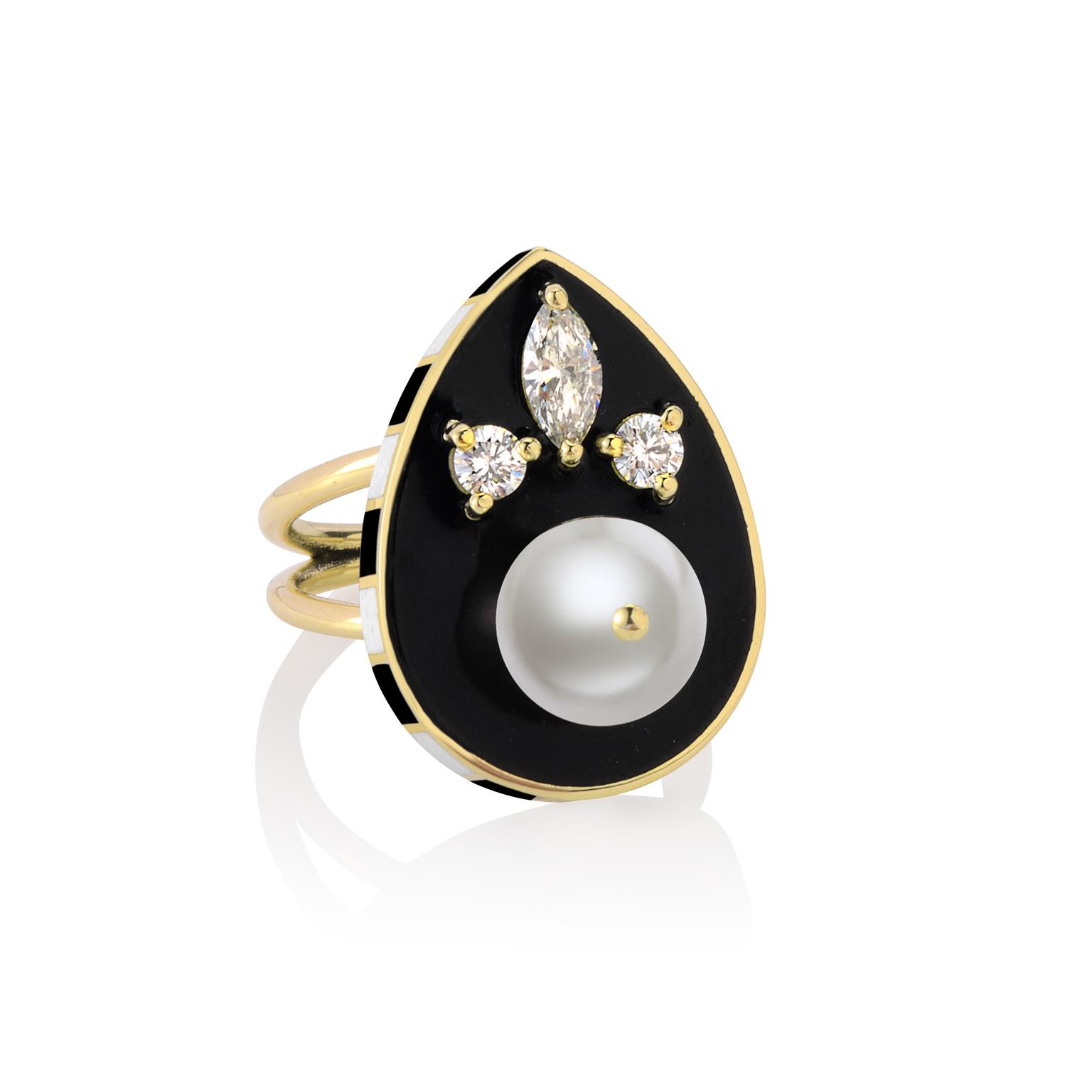 Holly Dyment Pearl Black ring