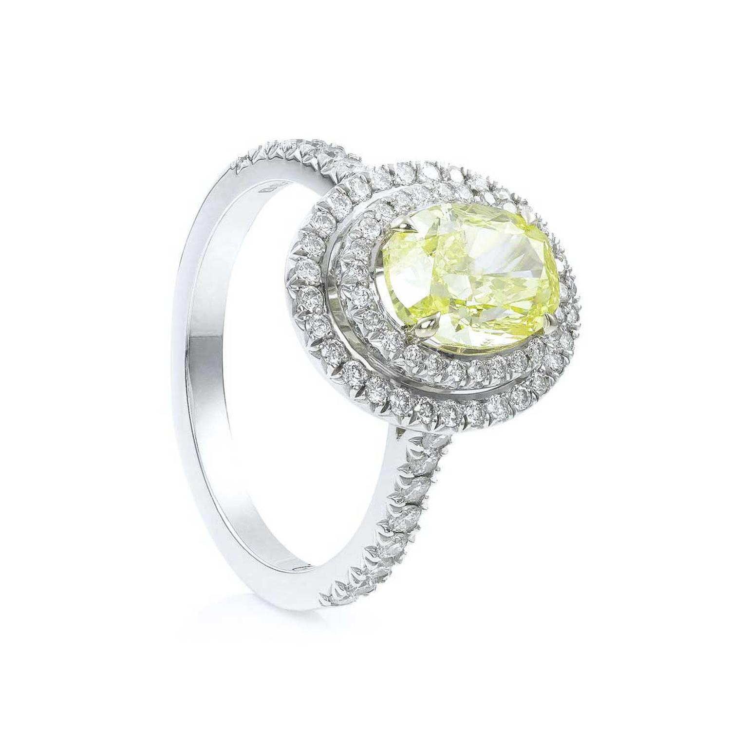 Boodles Vintage oval-cut yellow diamond ring