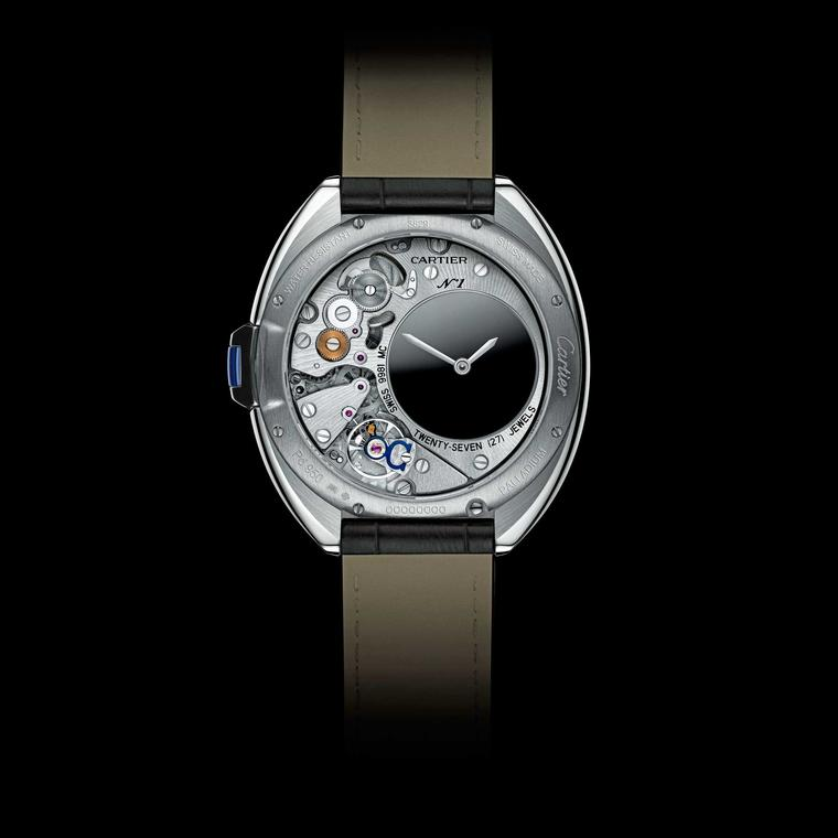 Clé de Cartier Mysterious Hour watch reverse