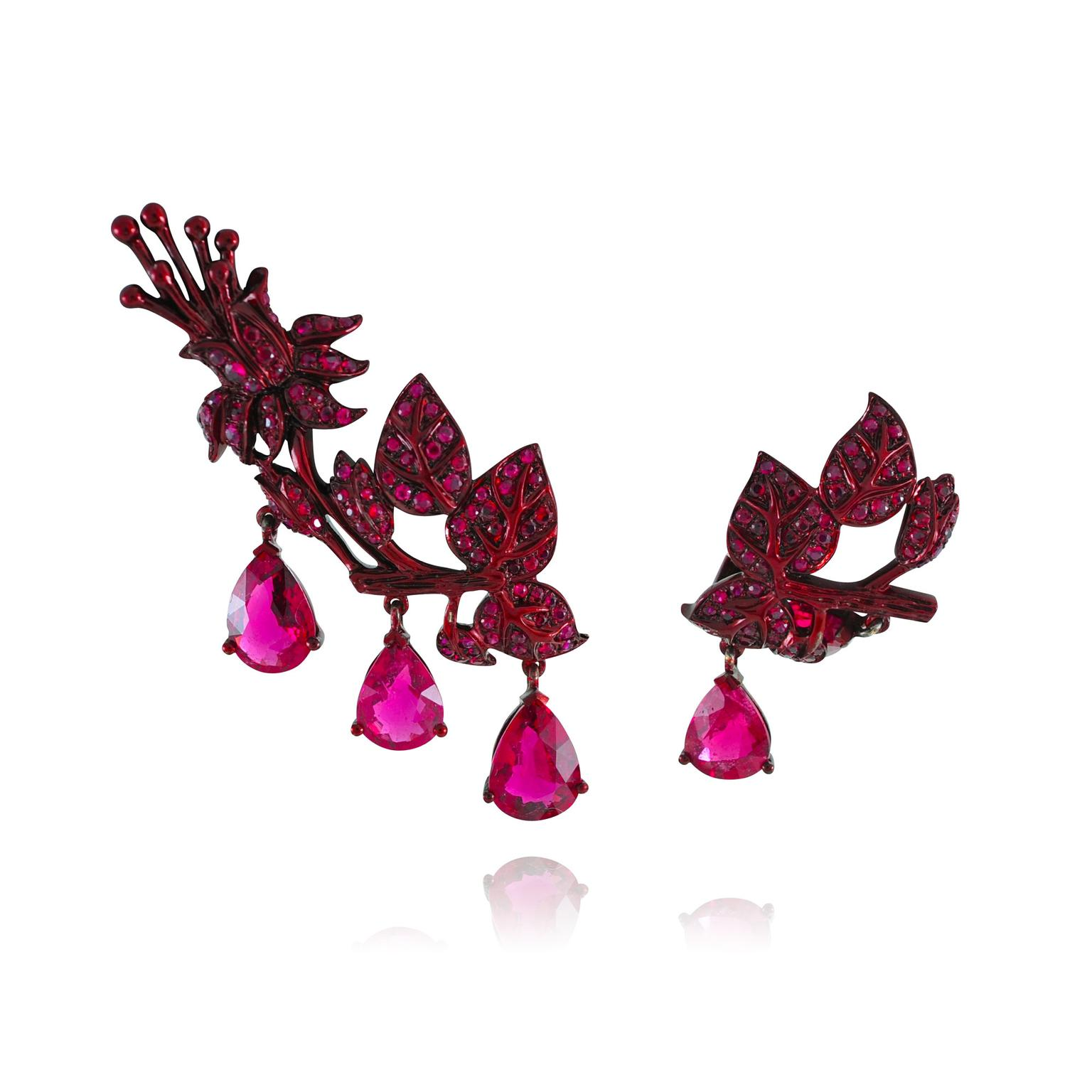 Lydia Courteille Scarlet Empress earrings