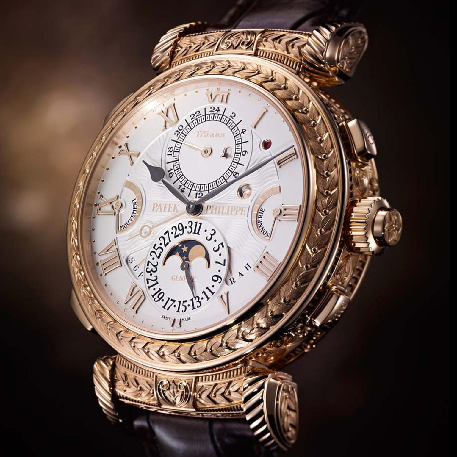 Patek philippe grandmaster chime watch 175th anniversary masterpiece with 20 complications and for Patek philippe