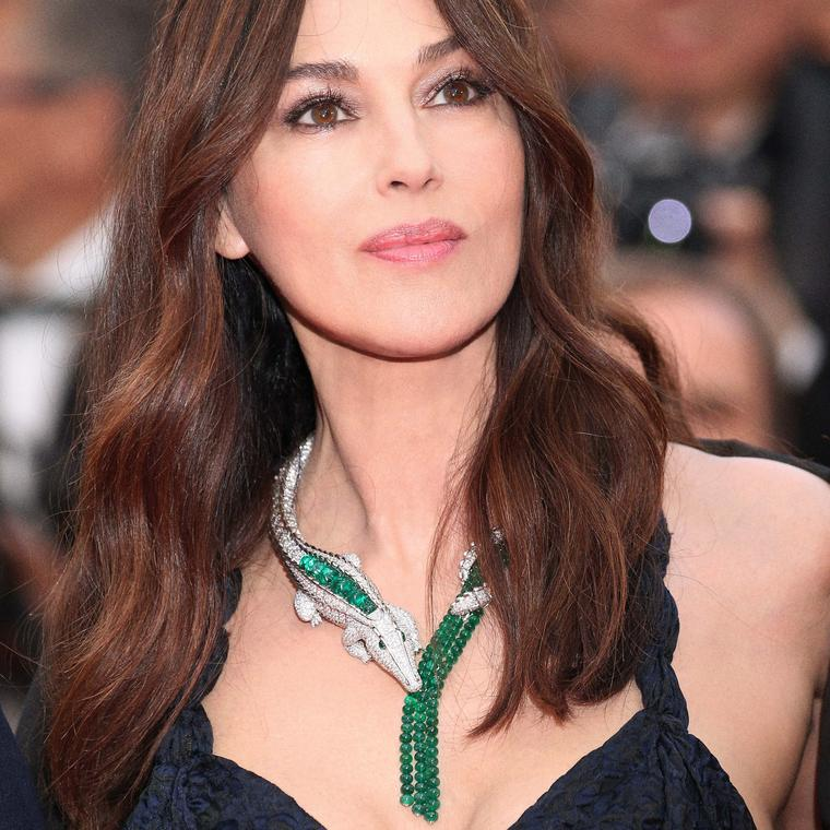 Monica Belluci in Cartier crocodile jewels Cannes 2019