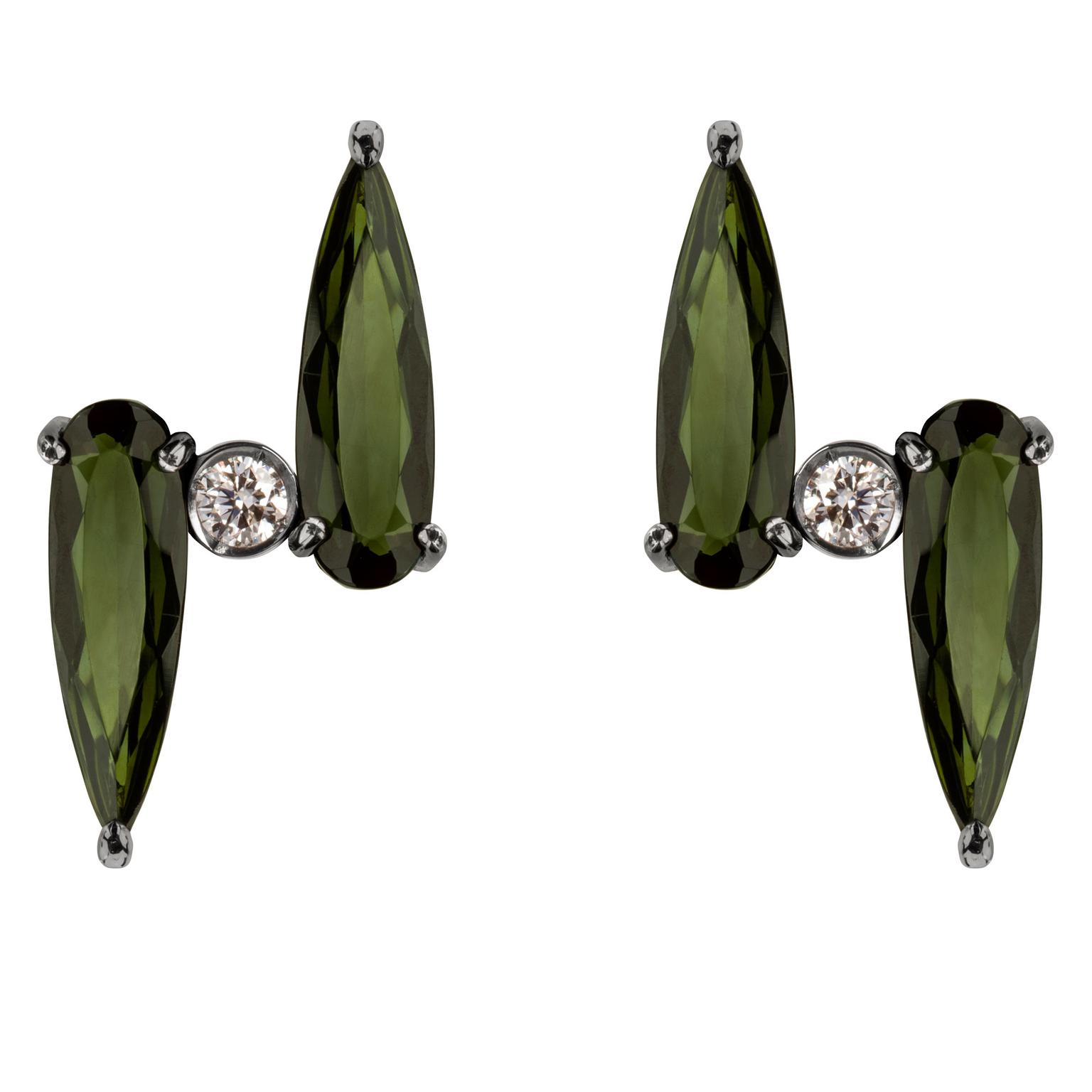 Jack Vartanian green tourmaline earrings