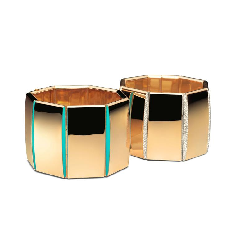 Vhernier Bridge rose gold bracelets