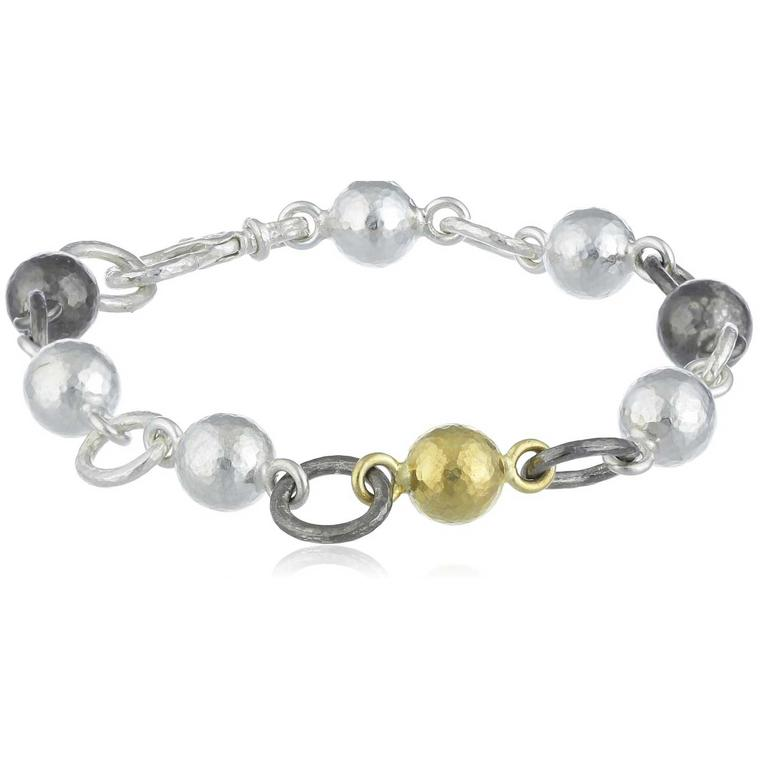Gurhan Balloon silver and 24ct gold bracelet
