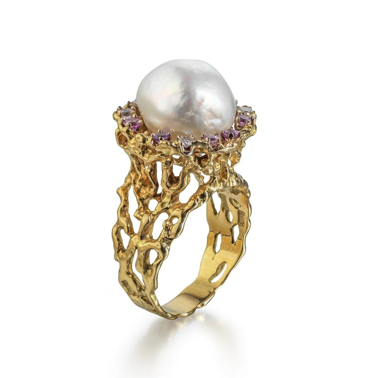 John Donald baroque South Sea pearl ring