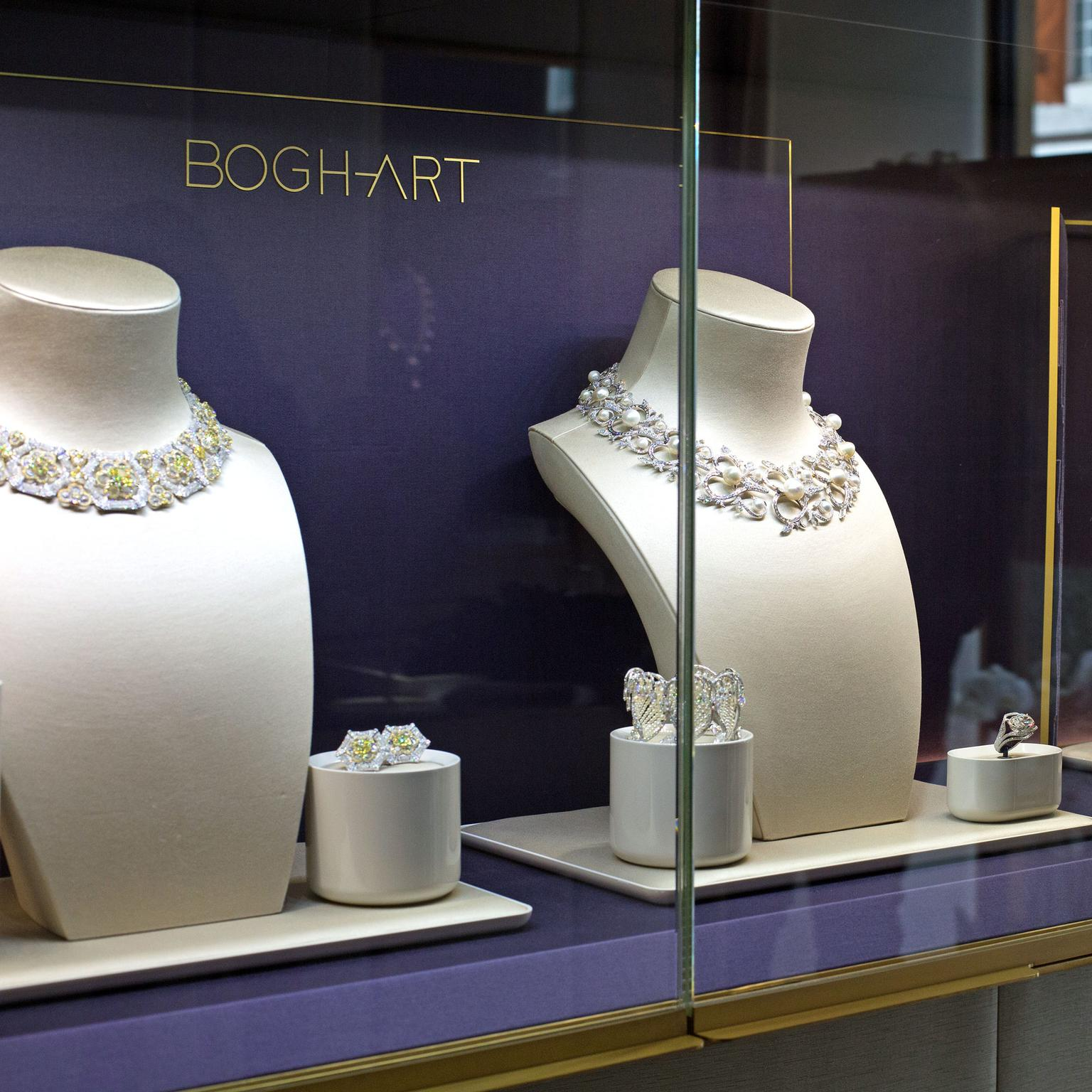 Boghossian Jewels window display