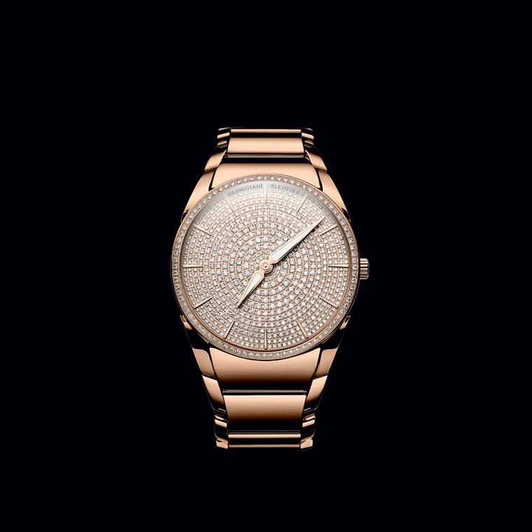Tonda 1950 Clarity rose gold watch with diamond dial