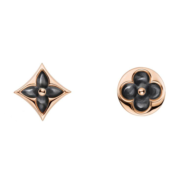 Louis Vuitton Blossom grey mother-of-pearl earrings