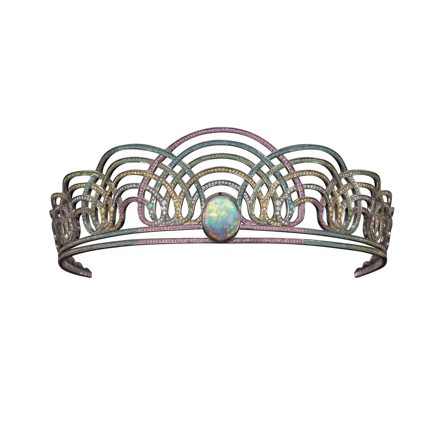 Rainbow tiara by Solange Azagury-Partridge
