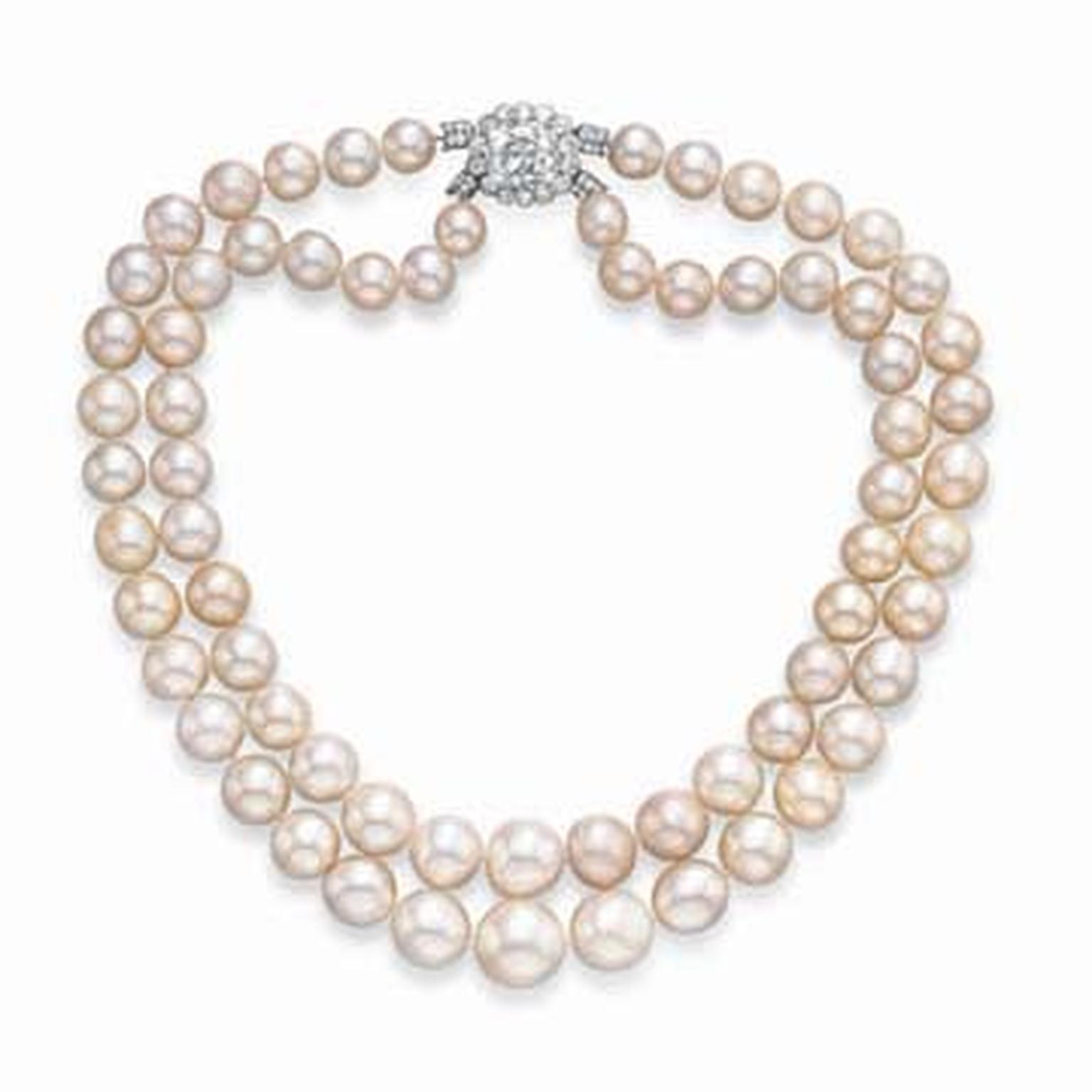 Cartier Baroda two-strand natural pearl necklace