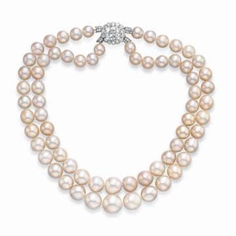 Cartier Baroda Two Strand Natural Pearl Necklace
