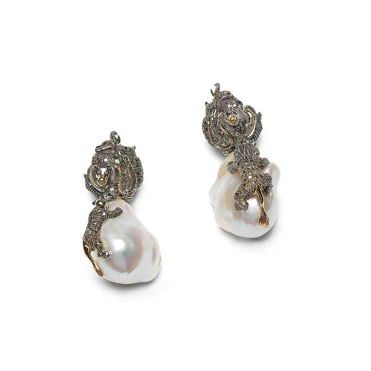 Bibi van der Velden baroque pearl earrings