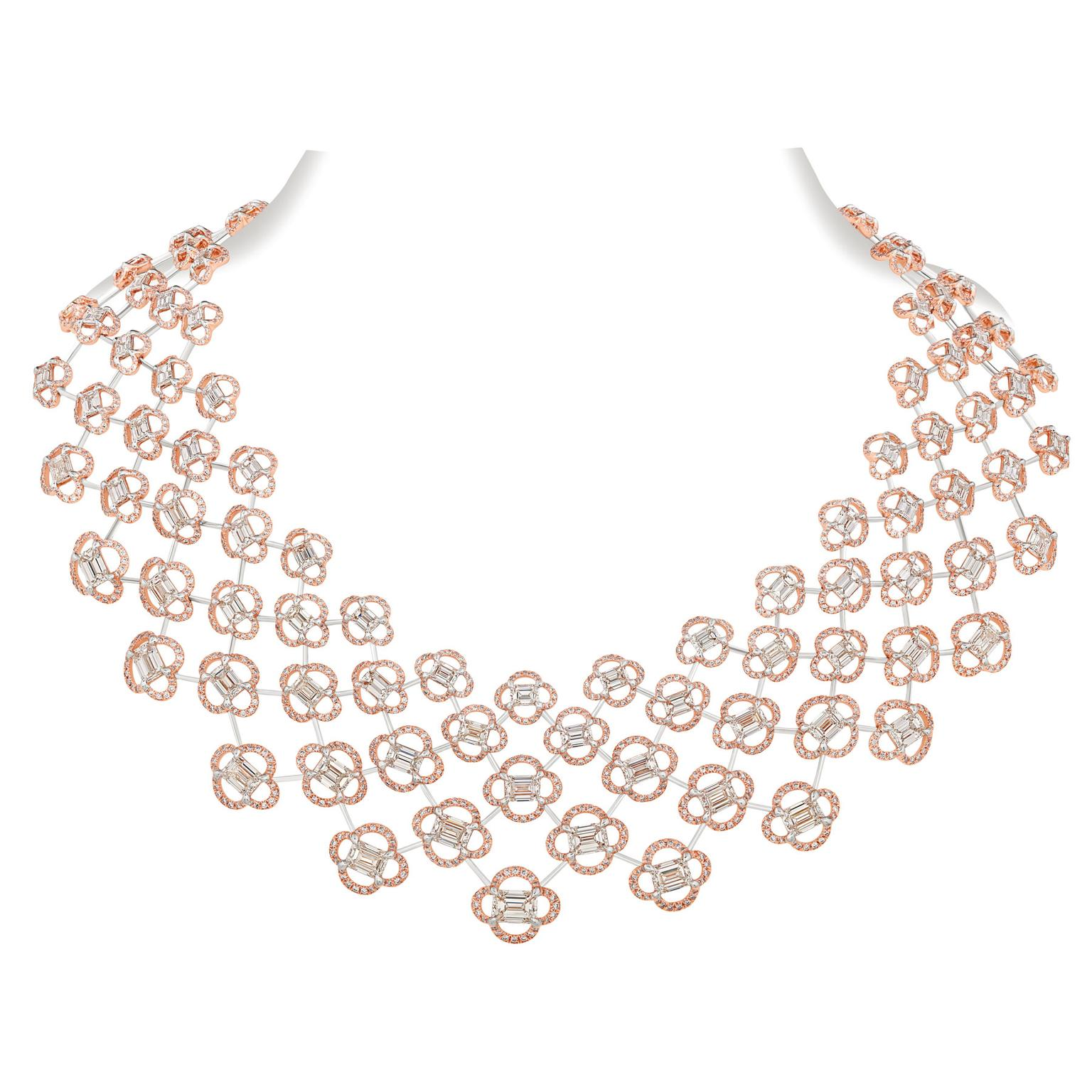 NIRAV MODI Sakura high jewellery diamond necklace