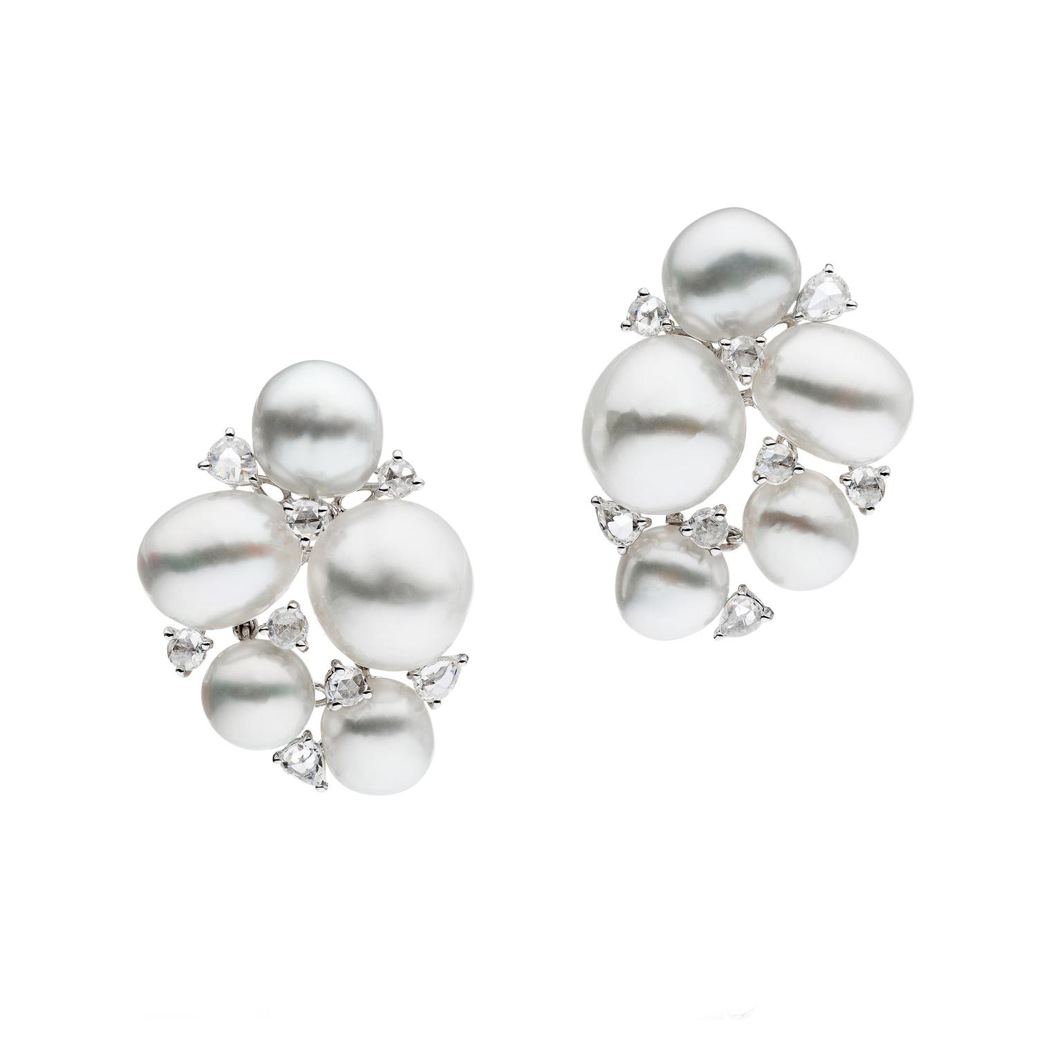 Autore pearl and diamond earrings