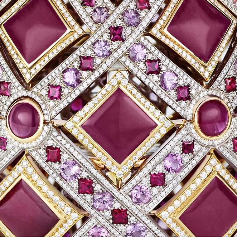 Fabergé Four Seasons Ruby egg close-up