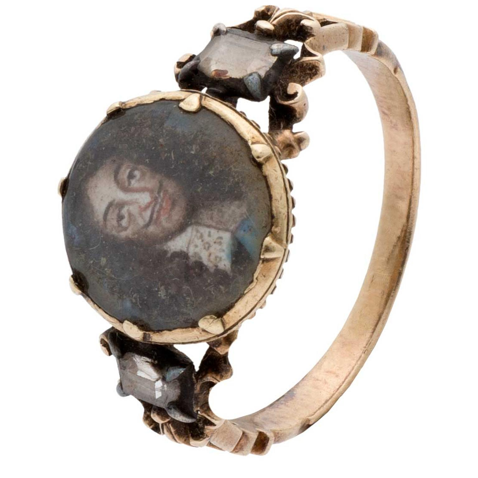 Stuart ring featuring King Charles II
