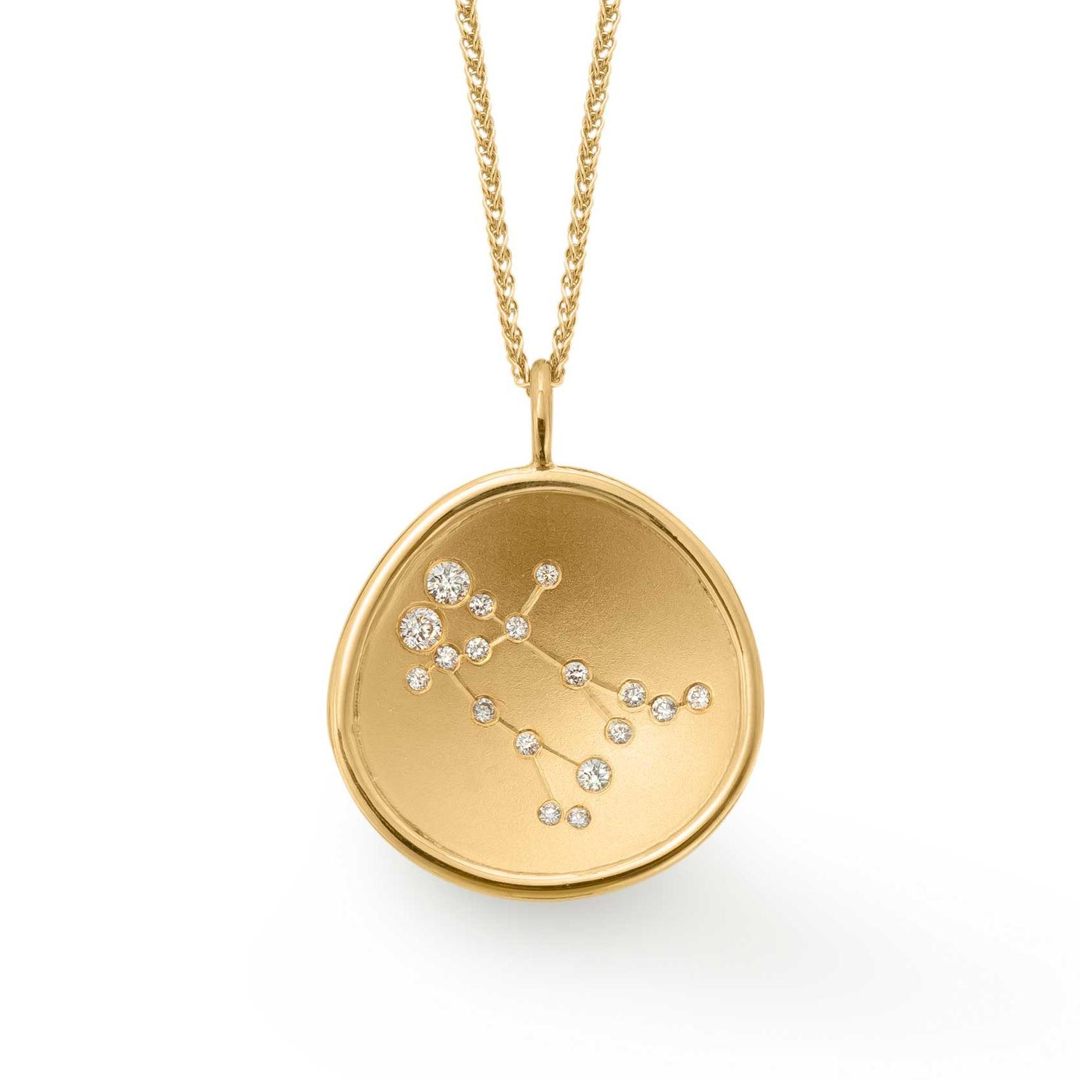 hare jewelry product constellation stella gemini beau necklace hunter gold and