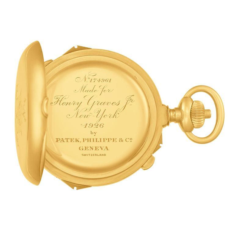 Henry Graves Jr. Supercomplication pocket watch inscription Patek Philippe