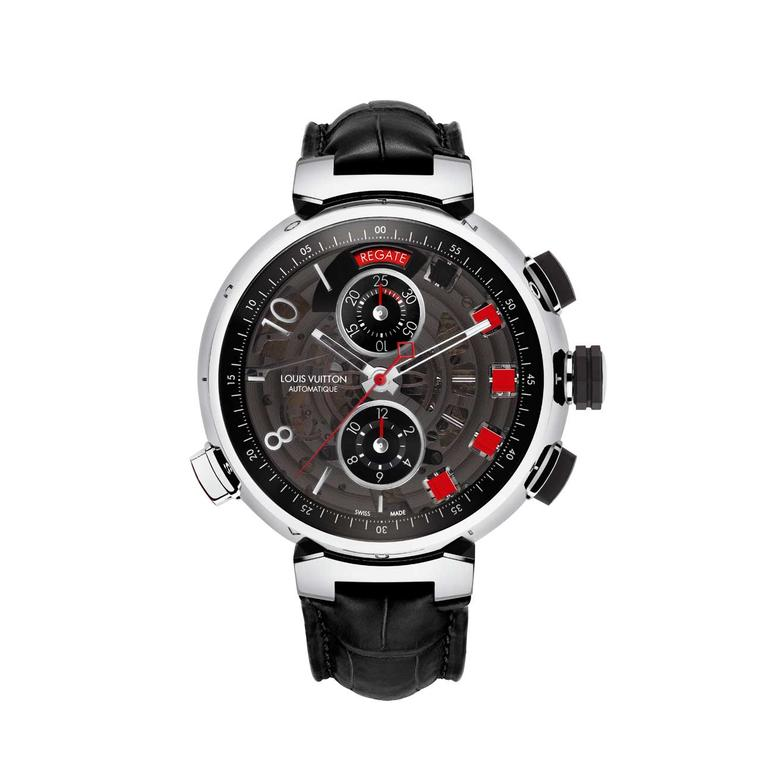 Louis Vuitton Tambour Spin Time Regatta white gold