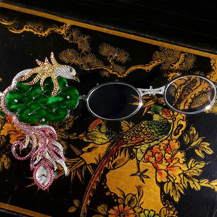 The Phoenix lorgnette by Hong Kong Jeweller Anita So for Osatina Jewellery.